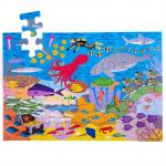 Drevené podlahové puzzle Podmorský svet 48dielikov Bigjigs Toys