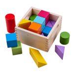 Bigjigs Baby Prvé drevené kocky set 17 kusov Bigjigs Toys