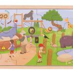 Dřevěné puzzle ZOO Bigjigs Toys