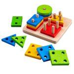 Bigjigs Baby Nasadzovanie farebných tvarov na tyče Bigjigs Toys