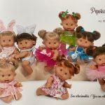 Pepotes bábiky španielskej spoločnosti Nines d'Onil. O niečo väčšia verzia bábik Pepotin so syntetickými vlasmi. Bábiky majú 26cm. Vyrobené z mäkkého vinylu s vôňou vanilky. Bábiky oblečené do farebných šiat, plaviek a šiat.