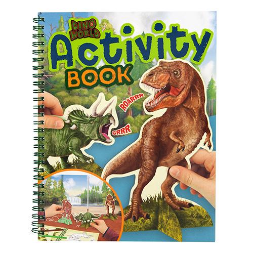 Maľovanky zošit aktivít Dino World 3323295