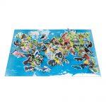 Vzdelávacie puzzle Ohrozené zvieratká 200 ks Janod