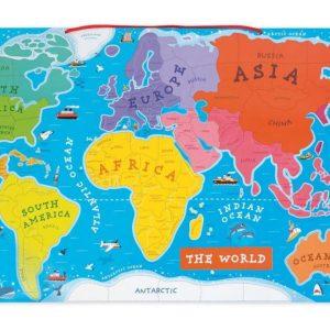 Magnetická mapa sveta EN verzia Janod