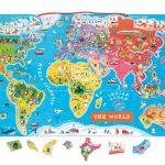 Magnetická mapa sveta EN verzia Janod J05504