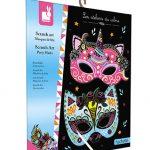 Vvškrabovacie obrázky Party Masky Atelier Sada Mini 5+ Janod J07890