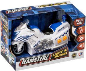 Teamsterz Policajná motorka so zvukom a svetlom Alltoys