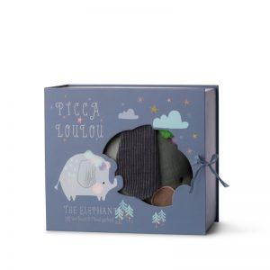 Slon v darčekovej krabičke Picca Loulou
